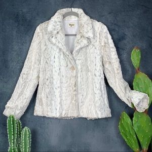Show Me Your Mumu Fischer Fur Jacket White Jag S